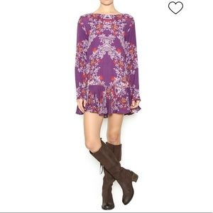 Free People FLORAL PRINT TUNIC, Size Large